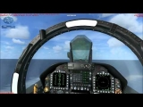 How to land a F-18 on an aircraft carrier in FSX.