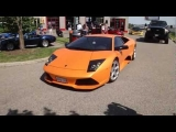 Lamborghini Murcielago LP640 takes off before Camaro