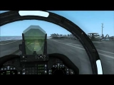 FSX  F-18 Hornet  landing on aircraft carrier U.S.S. Eisenhower CVN-68
