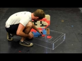 Super Mario – 3D Chalk Art (Time Lapse)
