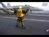 F 18 carrier based fighter aircraft carrier catapult off