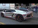 CHROME Lamborghini Aventador MASSIVE Revs! Gumball 3000 2012-Team Winning