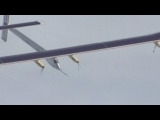 Solar powered plane soars over San Francisco ahead of cross-country flight