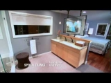 Floating Mirror TV in a Hi-Tech Seattle Bath Crash!