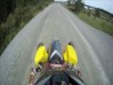wheelies and crash honda 450 trx Video