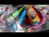 Technically perfect spray painting in Rome, Italy – HD720p