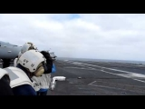 F/A-18 Landing on the Aircraft Carrier USS John C. Stennis