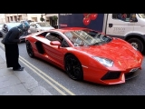 Wealthy Arab Lamborghini Aventador Owner Giving Gypsy Lady Money in London