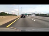 Wicked Car Crash caught on camera, Worcester Mass, I 290