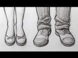 How to Draw Feet/Shoes: Front View, Male & Female