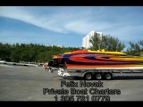 Cigarette jet/racing boats. Felix Novak Private charters.