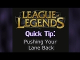 How to Push Your Lane Back when it's Frozen | League of Legends Tips and Tricks LoL