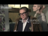 Moschino Cheap & Chic Fall/Winter 2013-14 BACKSTAGE | London Fashion Week LFW | FashionTV