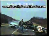 AMAZING POLICE CAR CRASH CAUGHT ON TAPE