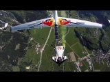 Wing suit team and acrobatic gliders stunt flying – Akte Blanix 3