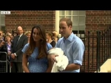 BBC News – Royal baby: Prince William and Catherine leave hospital with son