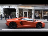 Luxury Cars   London Lamborghini Aventador   Startup   Acceleration!!