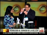 Showing some of the coolest beauty gadgets on CNN in Spanish