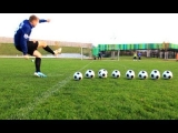 Amazing David Beckham Style Curve/Bend Free Kicks