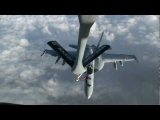U.S. Navy F/A-18 Super Hornets Refuel