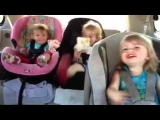 Baby wakes up dancing!!!!!! Hilarious!!!! Three sisters ages 1,2, and 3