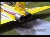 rc stunt plane, helicopter and jet do tricks and crash