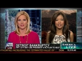 Michelle Malkin on  Detroit Bankruptcy and Obamacare – America Live – Fox News – 7-29-13