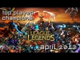 League of Legends: Top Played Champions (April 2013) | MMO Attack's Top 10