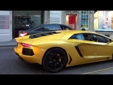 Luxury Cars – London 2013 Lamborghini Aventador – REV  Acceleration in London!!