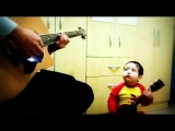 "2 years old amazing baby singing ""Don't Let Me Down"""