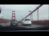 Google Self Driving Car on the Golden Gate Bridge