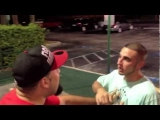 Street Fights guy provoking his buddy and gets into a fight.