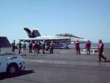 F-18 Catapult Shot Off An Aircraft Carrier