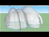Google Sketchup – Steel Frame, Tensile Membrane-Covered Architecture