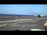 US Navy F-18 Hornet Performs Carrier Landing by GotFootageHD.com