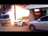 Intense Gas Explosion Caught on Camera in South Korea July 12th 2013 Massive
