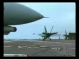 F18 Hornet Accident while landing on aircraft carrier PregnantGirlsl