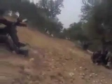 Syrian Assad army have fun with fighting dead syrian Rebels