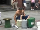 Amazing Street drummer – One of the best i've seen.
