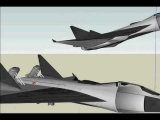 futuristic giant aircraft on sketchup