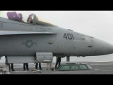F-18 launch from aircraft carrier USS Abraham Lincoln