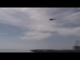 F-18 Supersonic Fly-by over Nimitz-class aircraft carrier | AiirSource
