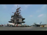 F18 Take Off Carrier Hornet Jet Fighter Taking Off from US Navy Aircraft Carrier Catapult Video View