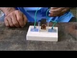 Simple electric motor kit/science project for child.