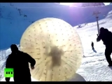 Dramatic video: Deadly zorb tragedy at Russian ski resort caught on camera