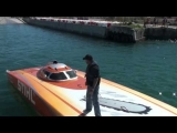 High speed off shore racing action Key West World Championships 2010 STIHL boat #13