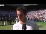 Andy Murray Interview After Winning Wimbledon 2013 – July 7 2013 – [High Quality]