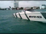 AMG / Cigarette Race Boat – At Idle from Press Boat